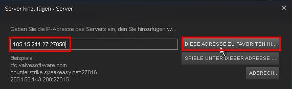 Steam - Favorit / Server hinzufügen (3.1)