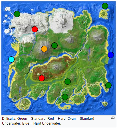 Ark Karte The Island.Ark Höhlen Arktefakte Und Bosse Dallarius Gameserver